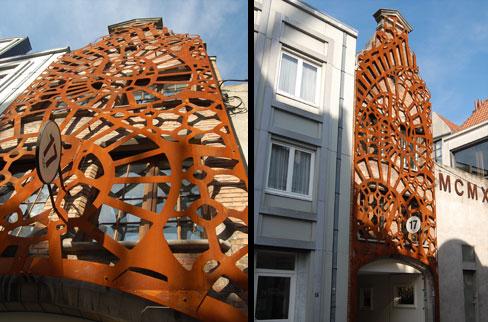 Architectenbureau van biervliet b v b a - Architectuur staal corten ...
